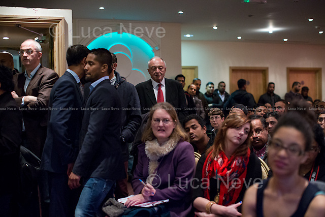 Ken Livingstone (English Labour Party politician who has twice held the leading political role in London local government; he also served as the Member of Parliament, MP, for Brent East from 1987 to 2001).<br /> <br /> London, 12/11/2014. Today, an &quot;emergency meeting&quot; was called in Tower Hamlets to discuss the ongoing dispute between the Secretary of State for Communities and Local Government Erick Pickles (Conservative Member of Parliament for Brentwood) and the twice elected Mayor of Tower Hamlets Lutfur Rahman. Less than 2 weeks ago Pickles defined Tower Hamlets as a &lt;&lt;rotten borough&gt;&gt; and &lt;&lt;told the Commons that Rahman had dispensed public money like a &quot;medieval monarch&quot; and oversaw an administration that was &quot;at best dysfunctional, at worst riddled with cronyism and corruption&quot;&gt;&gt; (source the Guardian http://bit.ly/1x1u7Z2). So the Communities Secretary decided to take over the administration of the East London council for the next two years actually commissioning the Council. From the press release of the organisers of the meeting: &lt;&lt;Eric Pickles this week ordered his attack dogs into Tower Hamlets despite his own report finding no evidence of fraud and corruption. His councils and government are ridden with corruption- it's not fairness he cares about but undermining our community. The Tories hate Tower Hamlets because it stood alone in putting residents before big business and funding our future&gt;&gt;.<br /> <br /> To sign the petition please click here: http://chn.ge/1xyLf8x
