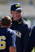 February 28, 2010:  Head Coach Rich Maloney of the Michigan Wolverines during the Big East/Big 10 Challenge at Raymond Naimoli Complex in St. Petersburg, FL.  Photo By Mike Janes/Four Seam Images