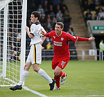 Calum Elliot celebrates his goal for Raith Rovers