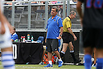 30 August 2015: DePaul assistant coach Craig Reynolds. The Duke University Blue Devils hosted the DePaul University Blue Demons at Koskinen Stadium in Durham, NC in a 2015 NCAA Division I Men's Soccer match.
