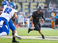 CONWAY VS BENTONVILLE  - Ben Pankau of the Tigers runs down the field against Conway at Tiger Stadium, Bentonville, AR, on Friday September 6. 2019,   Special to NWA Democrat-Gazette/ David Beach