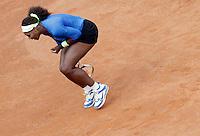 La statunitense Serena Williams durante gli Internazionali d'Italia di tennis a Roma, 16 maggio 2012..U.S. Serena Williams reacts during the italian Open tennis tournament in Rome, 16 may 2012..UPDATE IMAGES PRESS/Riccardo De Luca
