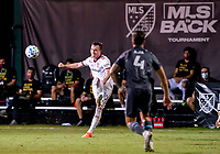 17th July 2020, Orlando, Florida, USA;  Real Salt Lake forward Corey Baird (10) crosses the ball during the MLS Is Back Tournament between the Real Salt Lake versus Minnesota United FC on July 17, 2020 at the ESPN Wide World of Sports, Orlando FL.