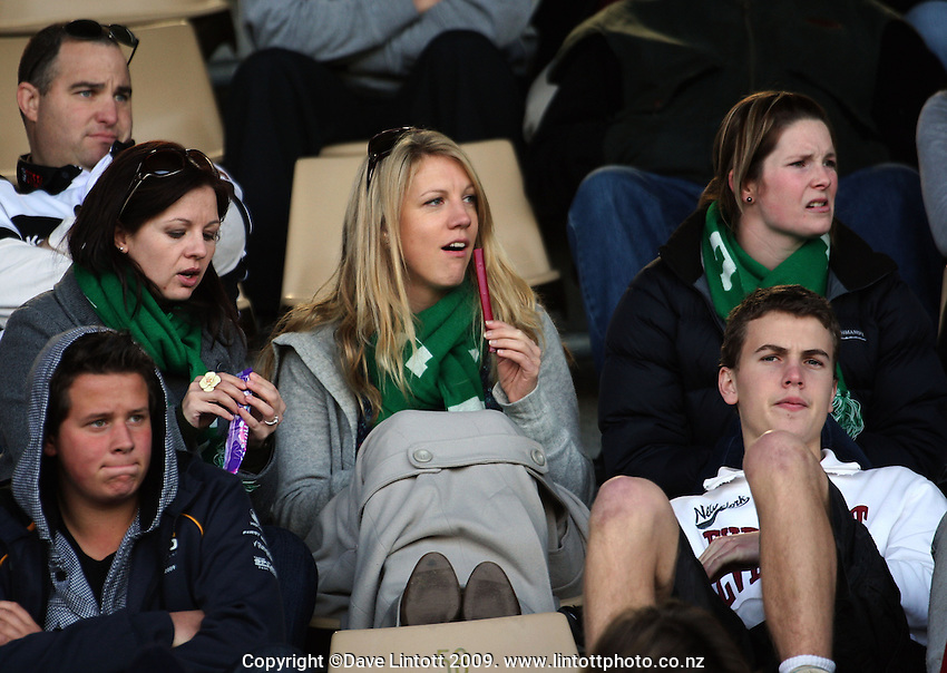 Manawatu supporters during the Air NZ Cup preseason match between the Hawkes Bay Magpies and Manawatu Turbos, McLean Park, Napier, New Zealand on Friday, 10 July 2009. Photo: Dave Lintott / lintottphoto.co.nz