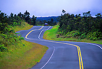 The saddle road stretches from the east side near Hilo of the Big island to the northwest side near Waimea