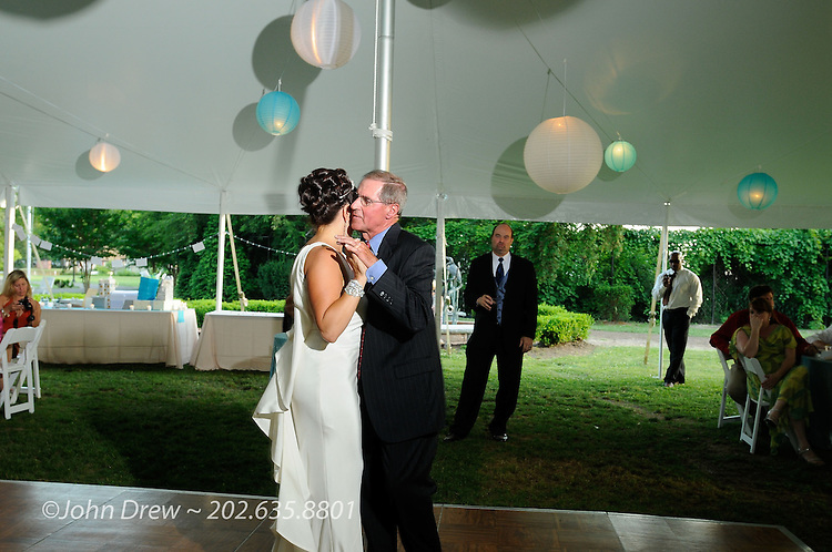 Summer Wedding on the beach with a tent reception on the Eastern Shore Maryland