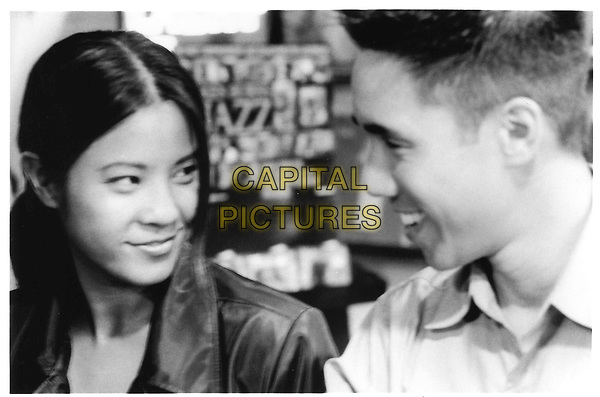 BETTER LUCK TOMORROW.'Sharing a Smile' from left to right .Stephanie (Karin Anna Cheung) and Ben (Parry Shen).Filmstill - Editorial Use Only.Ref: FB.sales@capitalpictures.com.www.capitalpictures.com.Supplied by Capital Pictures.