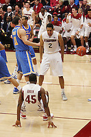 STANFORD, CA - JANUARY 9:  Landry Fields and Jeremy Green of the Stanford Cardinal during Stanford's 70-59 win over the UCLA Bruins on January 9, 2009 at Maples Pavilion in Stanford, California.
