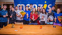 Hilversum, Netherlands, December 3, 2017, Winter Youth Circuit Masters, 12,14,and 16, years, prizegiving 16 years, all the winners<br /> Photo: Tennisimages/Henk Koster