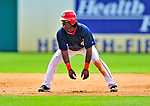 8 March 2009: Washington Nationals' outfielder Lastings Milledge takes a lead off first during a Spring Training game against the New York Mets at Space Coast Stadium in Viera, Florida. The Nationals defeated the Mets 8-3 in the Grapefruit League matchup. Mandatory Photo Credit: Ed Wolfstein Photo