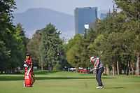 Shugo Imahira (JPN) hits his approach shot on 6 during round 2 of the World Golf Championships, Mexico, Club De Golf Chapultepec, Mexico City, Mexico. 2/22/2019.<br /> Picture: Golffile | Ken Murray<br /> <br /> <br /> All photo usage must carry mandatory copyright credit (© Golffile | Ken Murray)