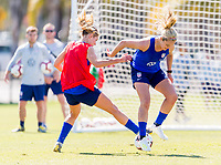 Santa Barbara, CA - March 28, 2019: The USWNT trains in preparation for an international friendly.