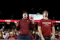 Stanford, CA - November 18, 2017: Fans during the Stanford vs California football game Saturday night at Stanford Stadium.<br /> <br /> The Stanford Cardinal defeated the California Golden Bears 17 to 14.