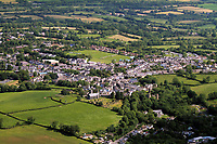 Pictured: Aerial view of Narberth, Pembrokeshire, west Wales. Monday 06 June 2011<br /> Re: Police have traced a car belonging to a woman who was discovered murdered at her home in a Pembrokeshire town.<br /> Detectives revealed more details about the death of Angelika Dries-Jenkins, who was found in Narberth on Friday, and who would have been 67 on Sunday.<br /> Her Skoda was taken from her home in Providence Hill and found in St Thomas Green, Haverfordwest, on Saturday.<br /> Officers say it is a very difficult time for her family and urged anyone with information to get in touch.<br /> Dyfed-Powys Police say Ms Dries-Jenkins could have been killed at any time last week.
