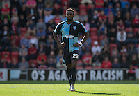 Gozie Ugwu of Wycombe Wanderers  during the Sky Bet League 2 match between Leyton Orient and Wycombe Wanderers at the Matchroom Stadium, London, England on 19 September 2015. Photo by Andy Rowland.