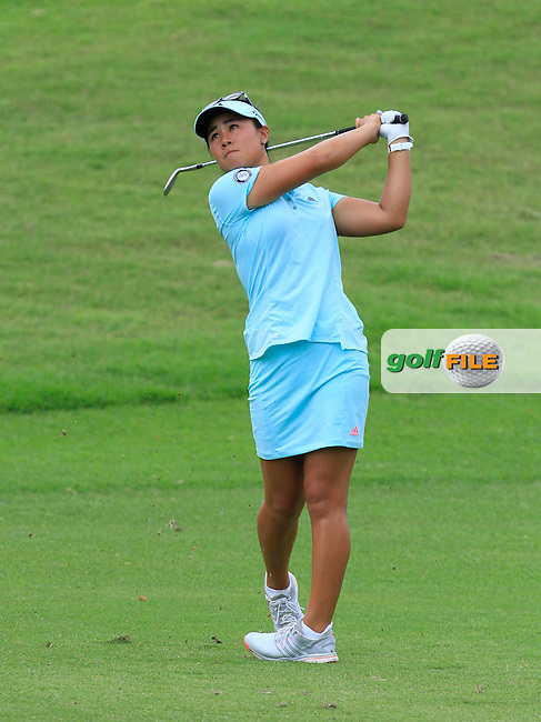 Danielle Kang (USA) on the 16th fairway during Round 3 of the HSBC Women's Champions at the Sentosa Golf Club, The Serapong Course in Singapore on Saturday 7th March 2015.<br /> Picture:  Thos Caffrey / www.golffile.ie