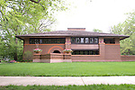 Frank Lloyd Wright building in Oak park Chicago