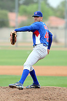 Trey McNutt #46 of the Chicago Cubs pitches in an intrasquad game at Fitch Park, the Cubs minor league complex, on March 21, 2011  in Mesa, Arizona. .Photo by:  Bill Mitchell/Four Seam Images.
