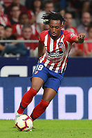 Atletico de Madrid vs Huesca Spanish league football match at Wanda Metropolitano in Madrid on September 25, 2018.<br /> Gelson