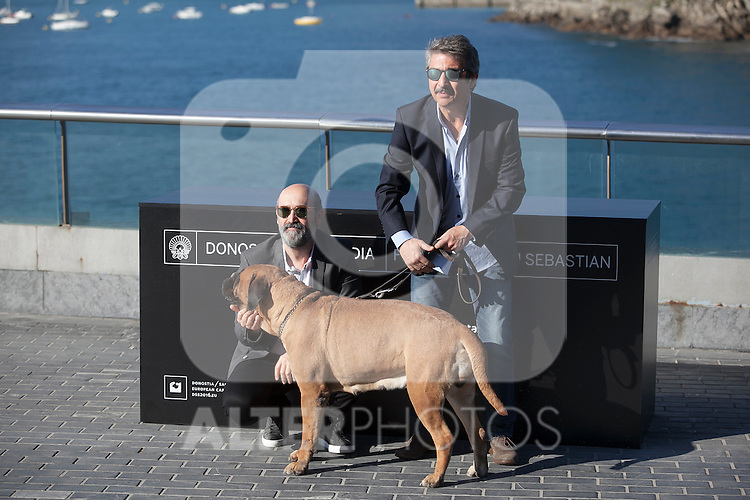 Actors Javier Camara and Ricardo Darin pose during the `Truman´ film presentation a 63rd Donostia Zinemaldia (San Sebastian International Film Festival) in San Sebastian, Spain. September 19, 2015. (ALTERPHOTOS/Victor Blanco)