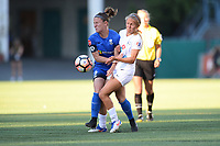 Seattle, WA - Friday June 23, 2017: Christine Nairn and Brittany Ratcliffe during a regular season National Women's Soccer League  (NWSL) match between the Seattle Reign FC and FC Kansas City at Memorial Stadium.