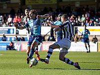 Sam Saunders of Wycombe Wanderers during the Sky Bet League 2 match between Wycombe Wanderers and Notts County at Adams Park, High Wycombe, England on the 25th March 2017. Photo by Liam McAvoy.