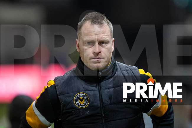 Newport County manager Michael Flynn ahead of the FA Cup 4th round replay match between Newport County and Middlesbrough at Rodney Parade, Newport, Wales on 5 February 2019. Photo by Mark  Hawkins / PRiME Media Images.