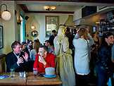 ENGLAND, Brighton, People Drinking in a Pub in the City Center