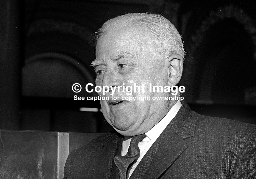 Hugh Clark, chairman, Ulster Bank, Ireland, February, 1968, 196802000085HC<br /> <br /> Copyright Image from Victor Patterson, 54 Dorchester Park, Belfast, UK, BT9 6RJ<br /> <br /> t: +44 28 9066 1296<br /> m: +44 7802 353836<br /> vm +44 20 8816 7153<br /> <br /> e1: victorpatterson@me.com<br /> e2: victorpatterson@gmail.com<br /> <br /> www.victorpatterson.com<br /> <br /> IMPORTANT: Please see my Terms and Conditions of Use at www.victorpatterson.com