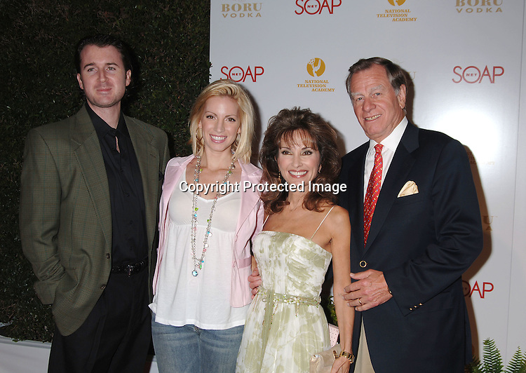 Liza Huber and husband Alex Hesterberg and mom Susan Lucci and Helmet Huber..at The SOAPnet and The National Academy Of Television Arts & Sciences Annual Daytime Emmy Awards Nominee Party on April 27, 2006 at The Hollywood Roosevelt Hotel. ..Robin Platzer, Twin Images