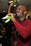 21 November 2010: Colorado's Omar Cummings (JAM) enjoys some champagne in the locker room after the game. The Colorado Rapids defeated FC Dallas 2-1 in overtime at BMO Field in Toronto, Ontario, Canada in MLS Cup 2010, Major League Soccer's championship game.