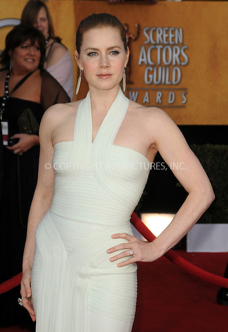 WWW.ACEPIXS.COM . . . . . ....January 30 2011, Los Angeles....Amy Adams arriving at the 17th Annual Screen Actors Guild Awards held at The Shrine Auditorium on January 30, 2011 in Los Angeles, CA....Please byline: PETER WEST - ACEPIXS.COM....Ace Pictures, Inc:  ..(212) 243-8787 or (646) 679 0430..e-mail: picturedesk@acepixs.com..web: http://www.acepixs.com