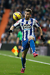 Deportivo de la Courna´s Luisinho during La Liga match at Santiago Bernabeu stadium in Madrid, Spain. February 14, 2015. (ALTERPHOTOS/Victor Blanco)
