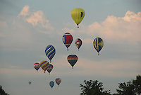 Hot Air Balloons approach the target area