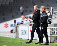 Lincoln City manager Michael Appleton, left, and Lincoln City's assistant manager David Kerslake in the technical area<br /> <br /> Photographer Chris Vaughan/CameraSport<br /> <br /> The EFL Sky Bet League One - Milton Keynes Dons v Lincoln City - Saturday 19th September 2020 - Stadium MK - Milton Keynes<br /> <br /> World Copyright © 2020 CameraSport. All rights reserved. 43 Linden Ave. Countesthorpe. Leicester. England. LE8 5PG - Tel: +44 (0) 116 277 4147 - admin@camerasport.com - www.camerasport.com