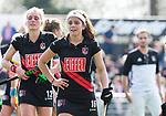 AMSTELVEEN - Hockey - Hoofdklasse competitie dames. AMSTERDAM-DEN BOSCH (3-1) Noor de Baat (A'dam) na de winst.    COPYRIGHT KOEN SUYK