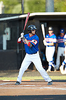 Scotty Diekman (4) of Mooresville Post 66 at bat against Kannapolis Post 115 during an American Legion baseball game at Northwest Cabarrus High School on May 30, 2019 in Concord, North Carolina. Mooresville Post 66 defeated Kannapolis Post 115 4-3. (Brian Westerholt/Four Seam Images)