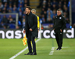 Atletico's Diego Simeone in action during the Champions League Quarter-Final 2nd leg match at the King Power Stadium, Leicester. Picture date: April 18th, 2017. Pic credit should read: David Klein/Sportimage