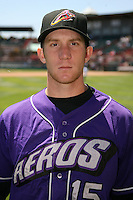 May 30, 2009:  Third Baseman Jared Goedert of the Akron Aeros poses for a photo before a game at Jerry Uht Park in Erie, NY.  The Aeros are the Eastern League Double-A affiliate of the Cleveland Indians.  Photo by:  Mike Janes/Four Seam Images