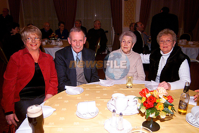 Gerldine McGune,Jim and Vera Beirth and Mare Dunne, at the Frank Maher Lounch of General Election, in the Westcourt Hotel...Pic Tony Campbell/Newsfile
