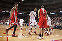 January 20, 2014: David Rivers (2) of the Nebraska Cornhuskers gets in Aaron Craft (4) of the Ohio State Buckeyes face at the Pinnacle Bank Arena, Lincoln, NE. Nebraska won in the game against Ohio State 68 to 62.