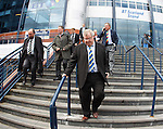 The SFL Chairmen leave Hampden this afternoon