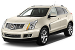 Front three quarter view of a 2013 Cadillac SRX