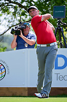 Jon Rahm (ESP) watches his tee shot on 6 during round 7 of the World Golf Championships, Dell Technologies Match Play, Austin Country Club, Austin, Texas, USA. 3/26/2017.<br /> Picture: Golffile | Ken Murray<br /> <br /> <br /> All photo usage must carry mandatory copyright credit (&copy; Golffile | Ken Murray)