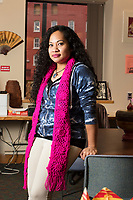Karonika Brown, 34, graduated with a degree with an Associates Degree in Liberal Arts and Sciences from Middlesex Community College in 2016, and continues to take classes there and work as a writing tutor for other students. Brown is an immigrant from Cambodia. She is seen here in the Asian American Connections Center at Middlesex Community College in Lowell, Mass., USA, on Thurs., Feb. 15, 2018. The Asian American Connections Center was established at the school using a federal grant in 2016 and serves as a focal point for the Asian community at the school, predominantly Cambodian, to gather, socialize, study, and otherwise take part in student life.