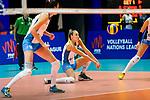 Elina Rodriguez of Argentina (C) passes the ball during the match between Argentina and Italy on May 30, 2018 in Hong Kong, Hong Kong. Photo by Marcio Rodrigo Machado / Power Sport Images