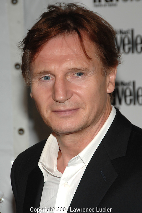 Actor Liam Neeson arrives at the Condé Nast Traveler Readers' Choice Awards October 10, 2007, at the Cooper-Hewitt Design Museum in New York City.. (Pictured : LIAM NEESON).