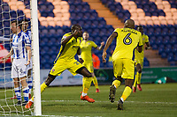Sammi Odelusi turns to celebrate his equalising goal during Colchester United vs Cheltenham Town, Sky Bet EFL League 2 Football at the Weston Homes Community Stadium on 6th January 2018