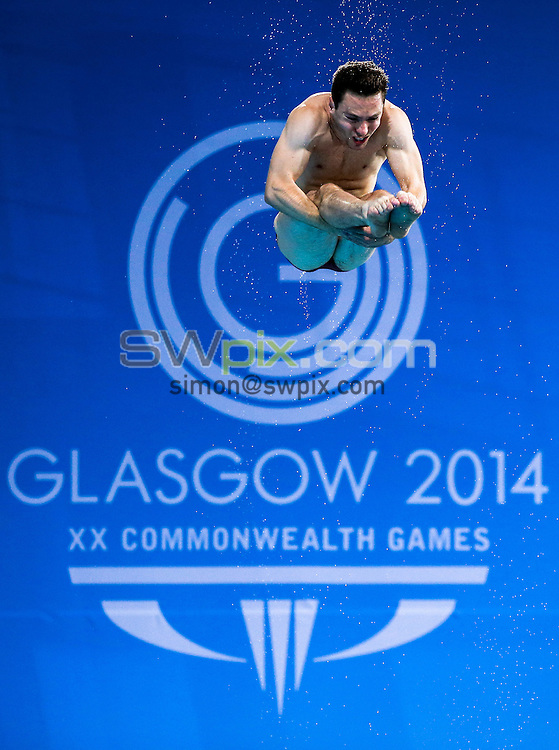 Picture by Alex Whitehead/SWpix.com - 31/07/2014 - 2014 Glasgow Commonwealth Games, Day 8 - Diving - Royal Commonwealth Pool, Edinburgh, Scotland - England's Oliver Dingley competes in the Men's 3m Springboard prelims.