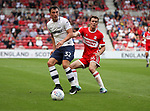Josh Earl of Preston North End action with Jonathan Howson of Middlesbrough during the Sky Bet Championship match at the Riverside Stadium, Middlesbrough. Picture date: August 26th 2017. Picture credit should read: Jamie Tyerman/Sportimage